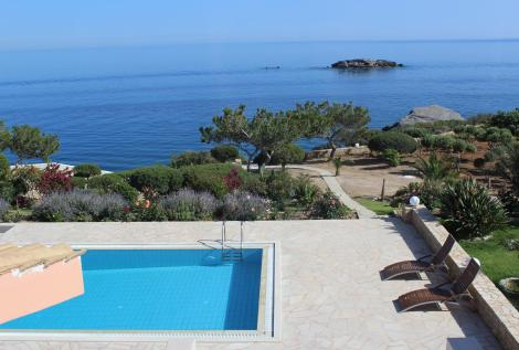 Privatpool Kreta Villa Luxury Heaven Sonne Meerzugang