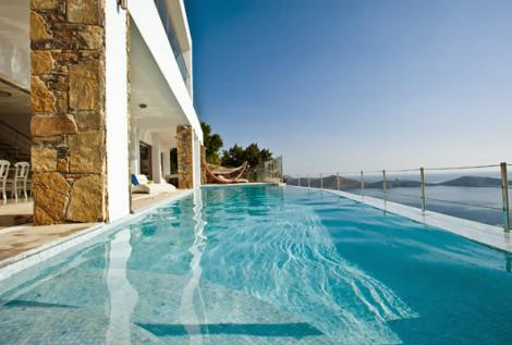 Pool Privat Luxus Villa Kreta Saphire