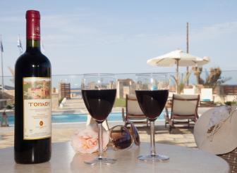 Wein am Pool Kreta Villa Suites Blue Horizon Sitia